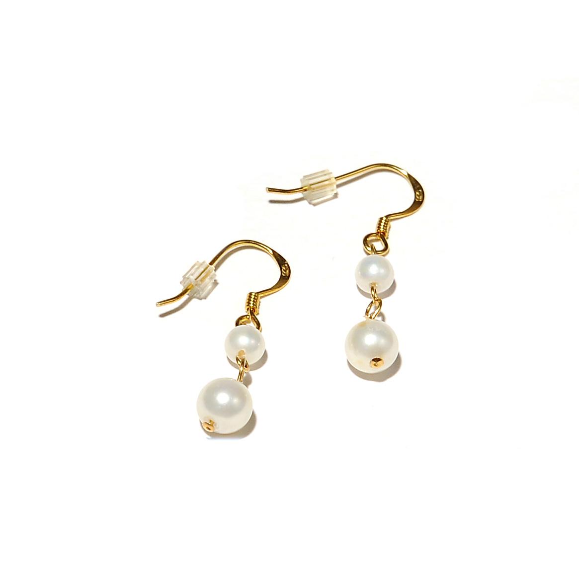 Σκουλαρίκια με χάντρες φίλντισι σε επιχρυσωμένο Ασήμι 925 – Twinsart.gr 996bb6407dd