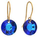 sun crystal blue earring
