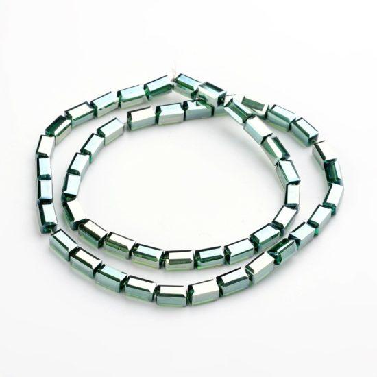 Κρύσταλλα ορθογώνια πράσινο 8x4x4 – κορδόνι 50 τμχ 8577ac4dc51