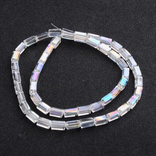 Κρύσταλλα ορθογώνια διάφανο 8x4x4 – κορδόνι 50 τμχ 804007499af