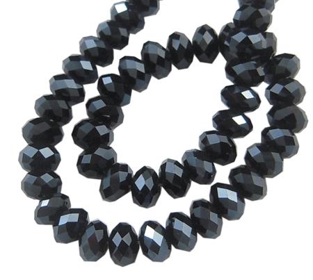 Κρύσταλλα ροδέλες Hematite black 8mm – κορδόνι 72 τμχ 6e1e372202d