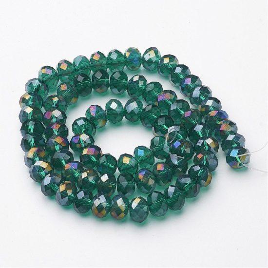 Κρύσταλλα ροδέλες πράσινο 8mm – κορδόνι 72τμχ c22d464efc9