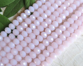 Κρύσταλλα ροδέλες ροζ- λιλά 8mm – κορδόνι 72τμχ eaf3bd630fb