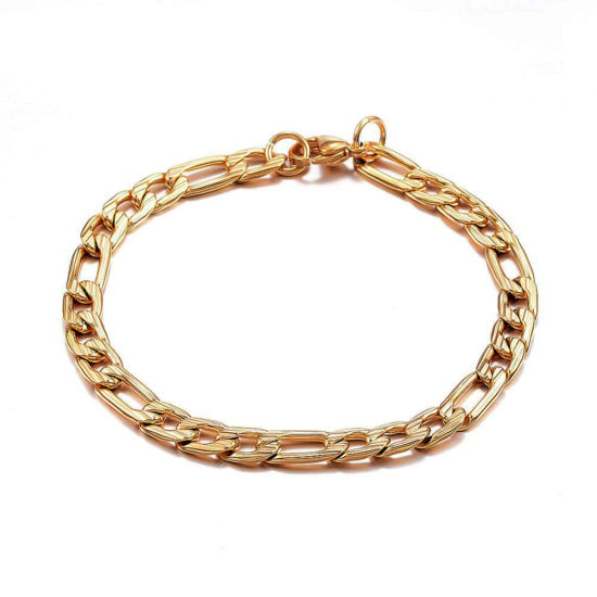stainless steel chain bracelet γολδεν 1