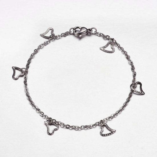 stainless steel heart bracelet 1